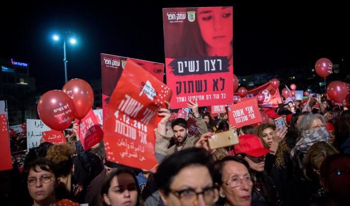 מחאה נגד אלימות כלפי נשים