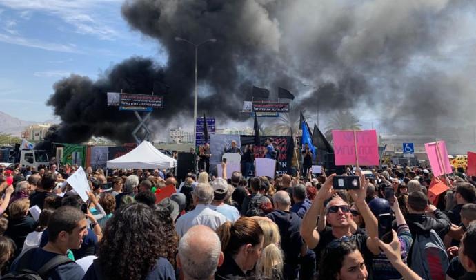 מחאה באילת נגד סגירת שדה דב