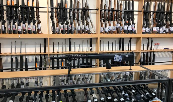 חנות נשקים בעיר קרייסטצ'רץ', ניו זילנד