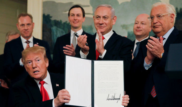 דונלד טראמפ והצו המכיר בריבונות ישראל בגולן