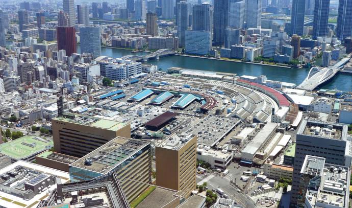 מבנה עצום ממדים שאורכו כשני קילומטרים. מבט על השוק החדש מלמעלה