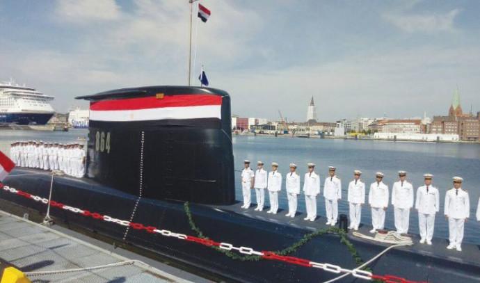 טקס מסירת צוללת לחיל הים המצרי בקיל, גרמניה, אוגוסט 2017
