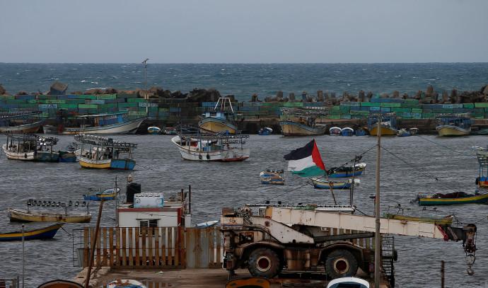 סירות דיג בנמל ברצועת עזה