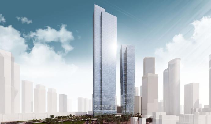 הדמיית המגדל הגבוה בישראל