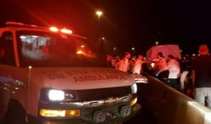 זירת התאונה בכביש 1