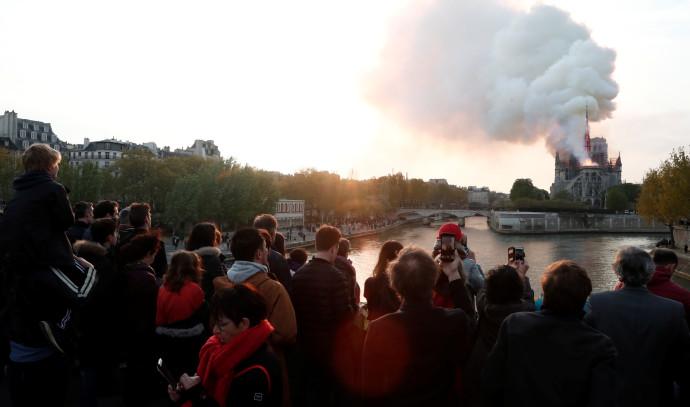 השריפה בקתדרלת נוטרדאם
