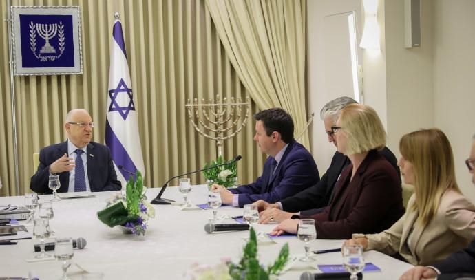 נציגי סיעת ישראל ביתנו בבית הנשיא