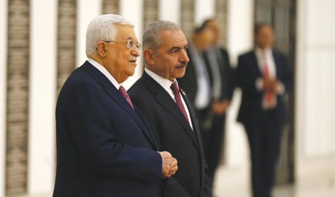 אבו מאזן וראש הממשלה הפלסטיני הנכנס, מוחמד אשתייה