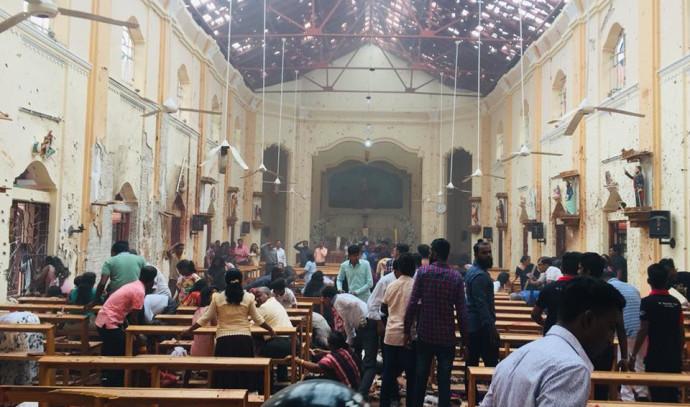 פיצוץ בכנסיית סנט סבסטיאן בסרי לנקה