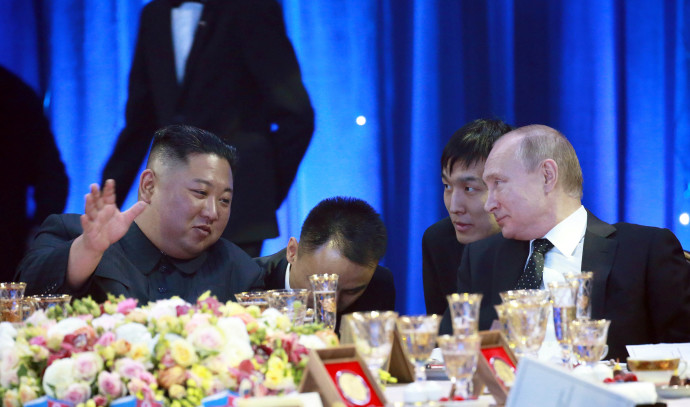 קים ג'ונג און, ולדימיר פוטין