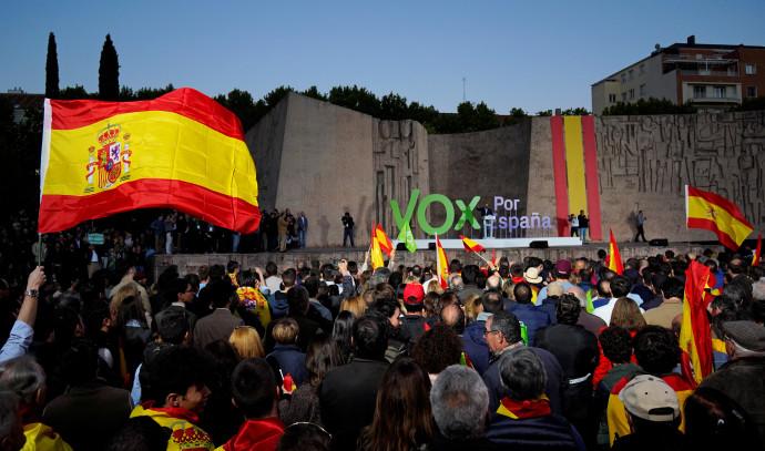 תומכי מפלגת הימין הקיצוני הספרדית ווקס