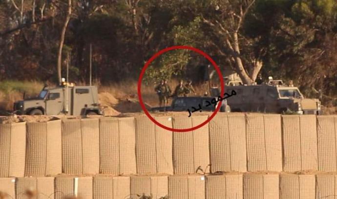 פינוי החיילים שנפצעו כפי שצולם מרצועת עזה