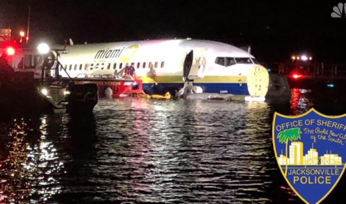מטוס של חברת בואינג שהתרסק לנהר בפלורידה