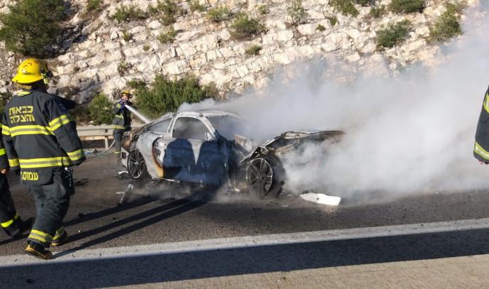 פיצוץ רכב בנצרת עילית