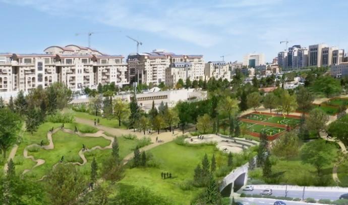 מתיחת הפנים של גן סאקר בירושלים