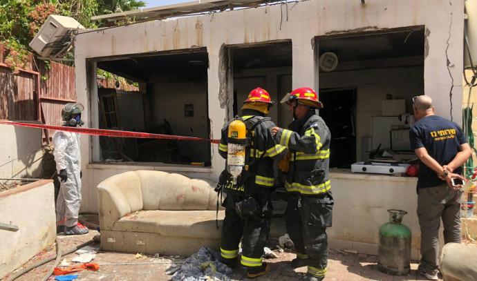 הבית שנהרס בפיצוץ גז באילת