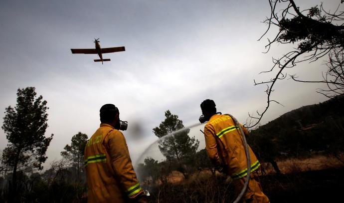 שריפה סמוך לקיבוץ הראל