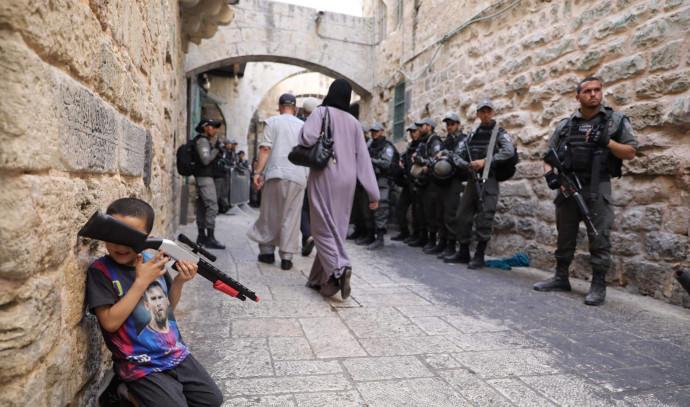 """כוחות מג""""ב בעיר העתיקה בירושלים"""