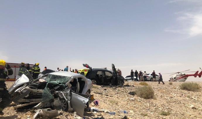 תאונה חזיתית בכביש 90