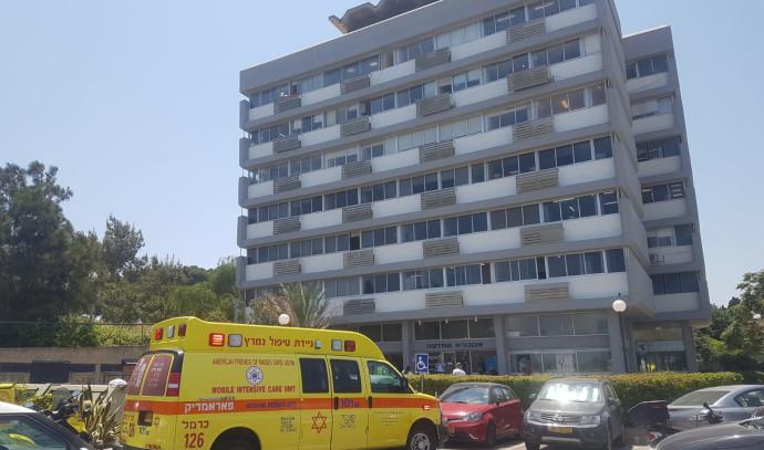 אתר תאונת העבודה בחיפה