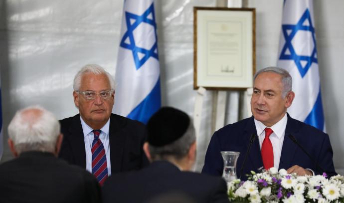 """רה""""מ בנימין נתניהו עם שגריר ישראל בארה""""ב, דיוויד פרידמן"""