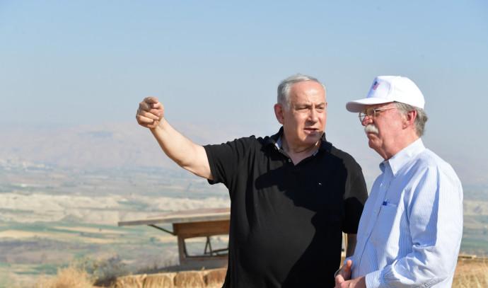 """רה""""מ נתניהו עם ג'ון בולטון בבקעת הירדן"""