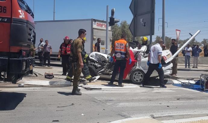 תאונת הדרכים בצומת רמת בקע