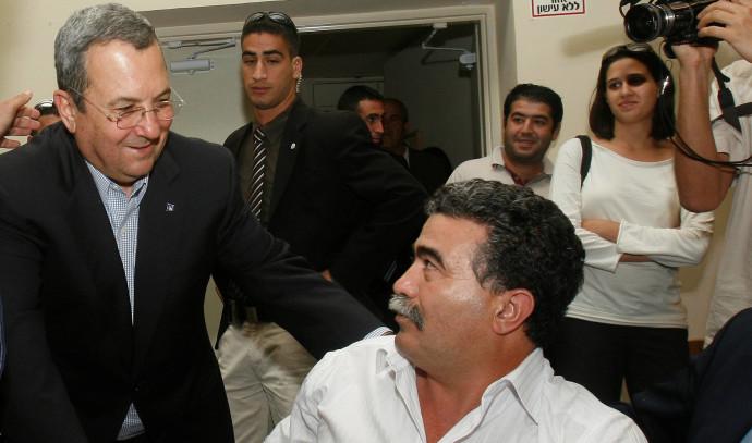 עמיר פרץ עם אהוד ברק, 2008