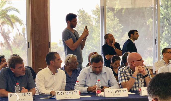 דיון של ועדת החוץ וביטחון עם ראשי מועצות בעוטף עזה