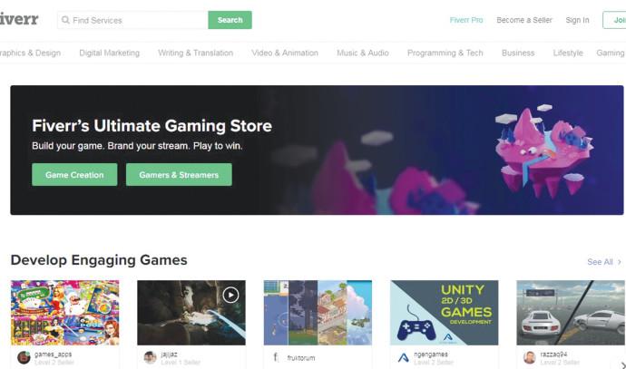 חנות המשחקים של Fiverr