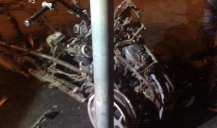 הקטנוע המשטרתי שהוצת בחיפה