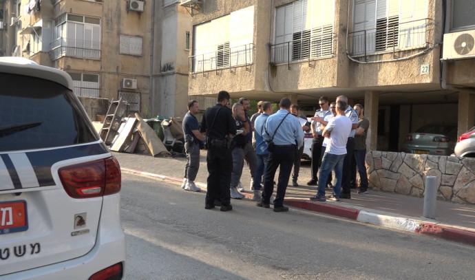 המשטרה בזירת הרצח בבני ברק