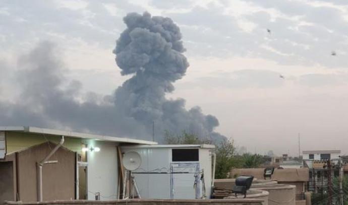 פיצוץ במחסן תחמושת בבגדד