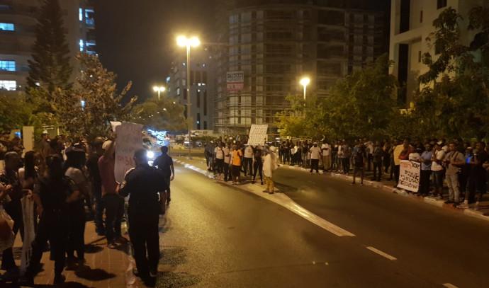 ההפגנה בפתח תקווה