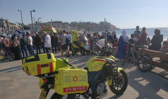 החוף בו ארעה הטביעה בתל אביב