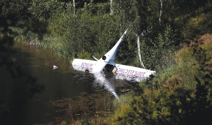 המטוס הנורווגי לאחר נחיתת האונס