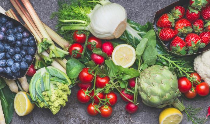 ירקות ופירות, אוכל בריא