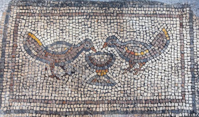 צמד ציפורים שותות מגביע יין