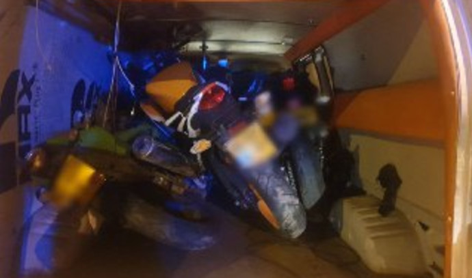 הרכב והאופנועים שנגנבו