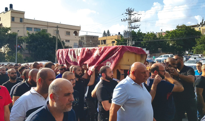 הלוייתו של קורבן רצח בבאקה אל גרבייה