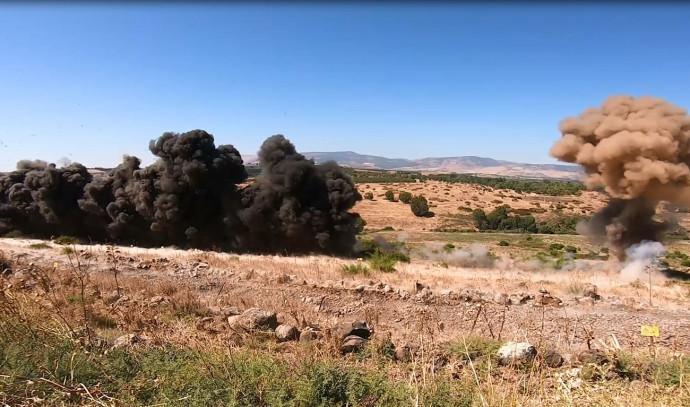 פיצוץ מוקשים ברמת הגולן
