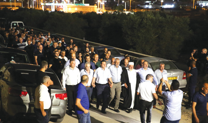 מסע לוויה במג'ד אל-כרום