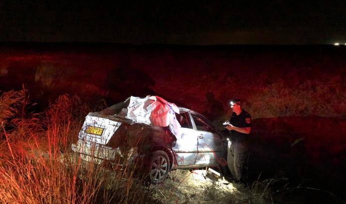 תאונת דרכים בזמן מרדף בכביש 6
