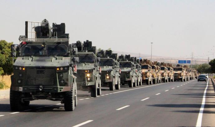 צבא טורקיה בדרכו לסוריה