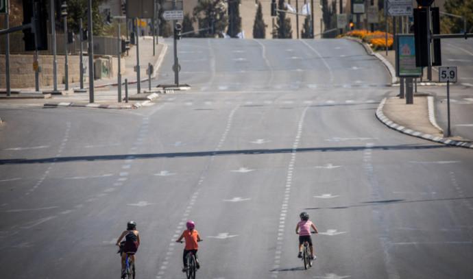 רכיבה על אופניים ביום כיפור בירושלים