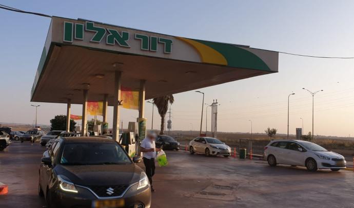 תחנת הדלק בה תקפו החיילים את תושבי רהט