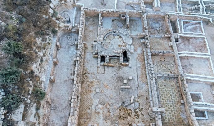 מתחם הכנסיה שנחשף ברמת בית שמש