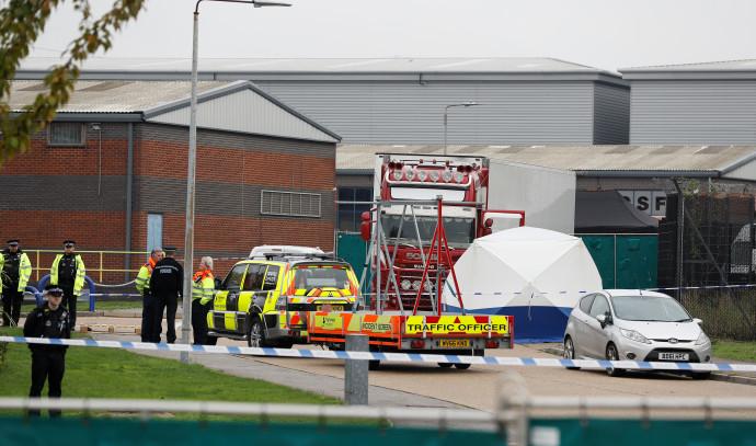 המשאית בה נמצאו הגופות בבריטניה