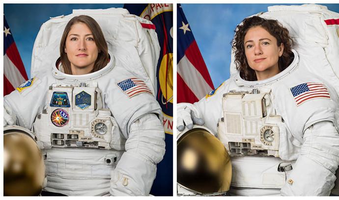 האסטרונאוטיות כריסטינה קוך וג'סיקה מאיר