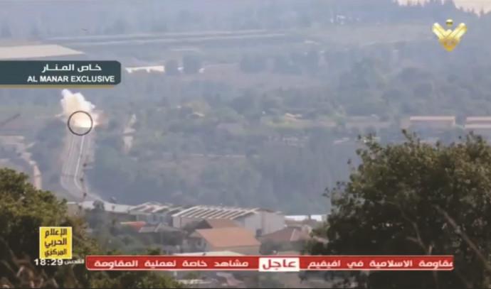 """ירי נ""""ט על רכב צה""""ל בגבול לבנון"""